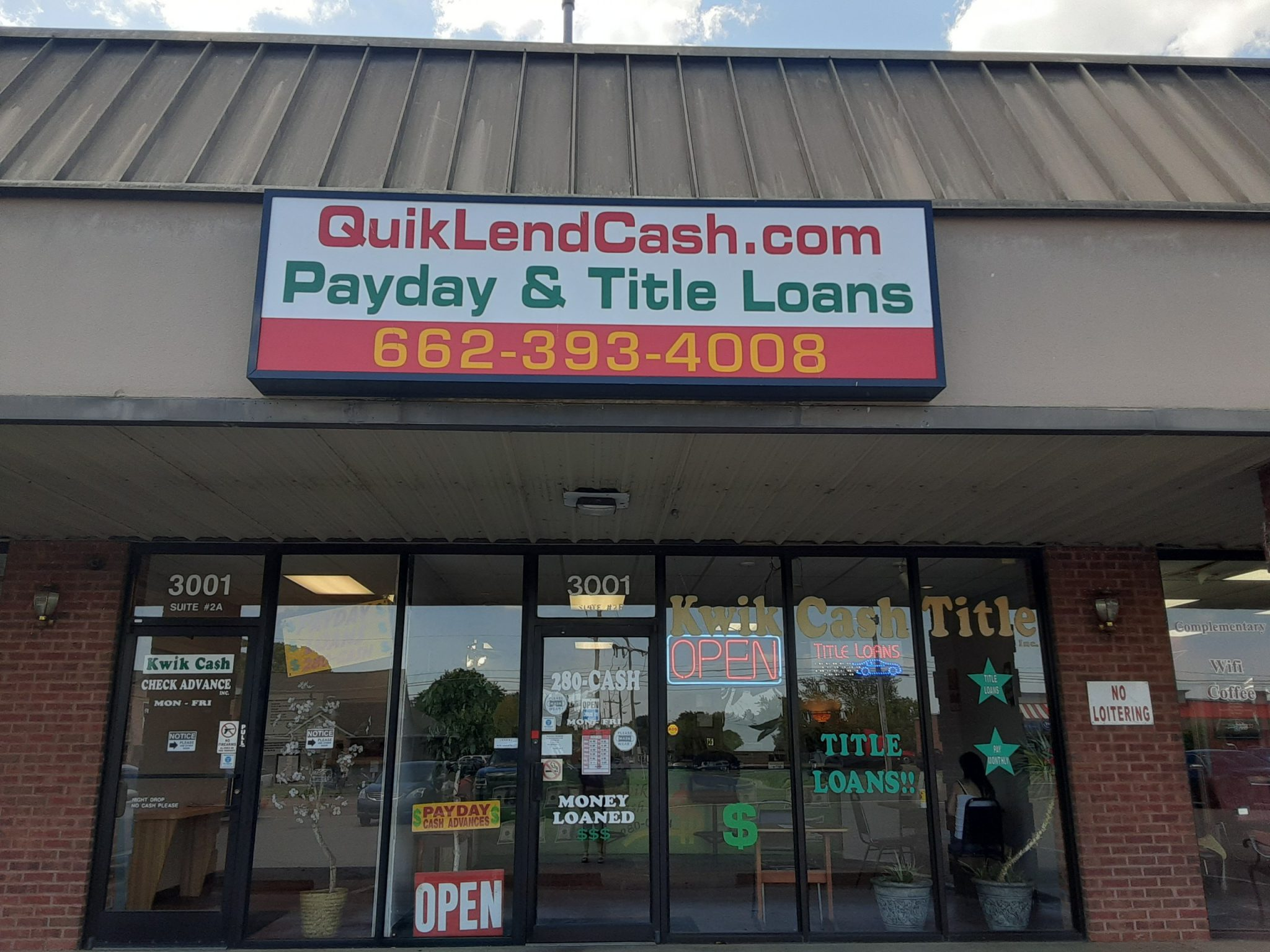 Horn Lake QuikLend Cash Location